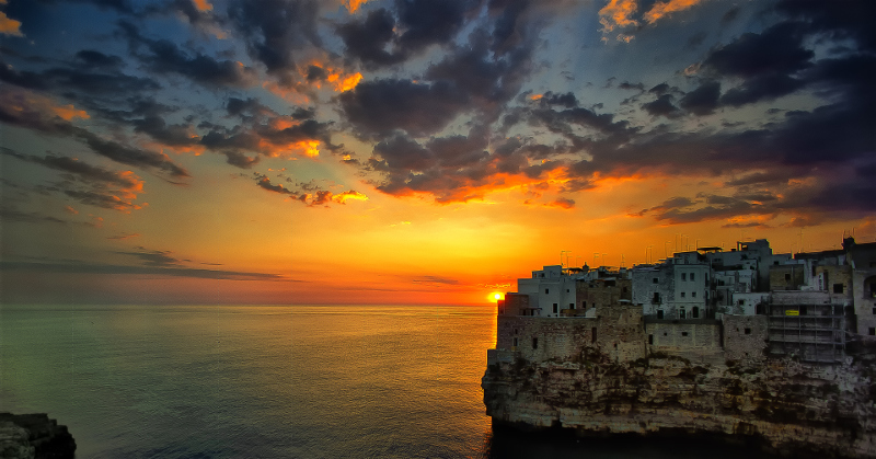 Polignano a Mare, a beautiful city by the sea