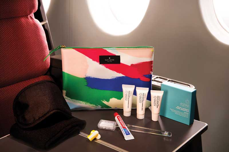 Qantas amenity pack