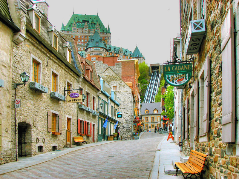 Historical streets of Quebec City