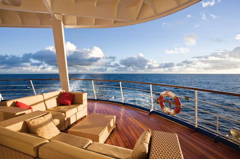 Take in the world from the deck of a Regent Seven Seas ship.
