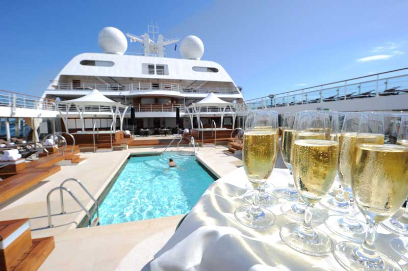 Time on board Seabourn Sojourn is full of luxury.