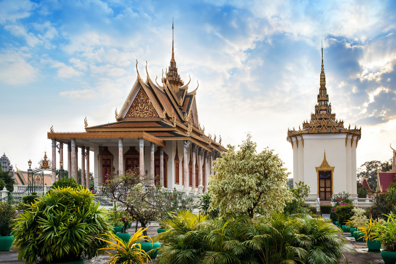 The Royal Palace at Phnom Penh