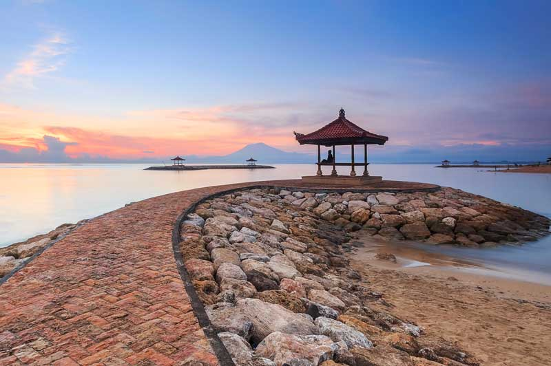 The famous 4km Sanur Boardwalk