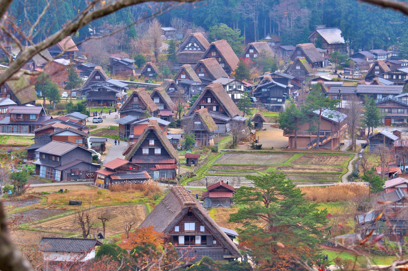 The World Heritage site of Shirakawa-go