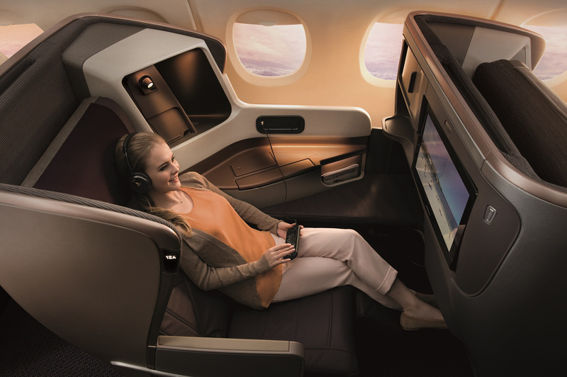 Business Class on the Singapore Airlines 777-300ER aircraft