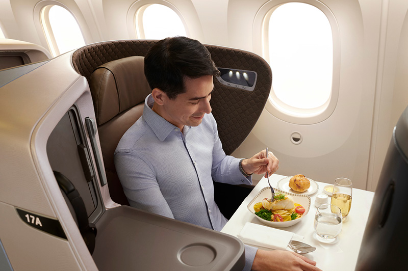 Business Class on the Singapore Airlines 787-10 aircraft