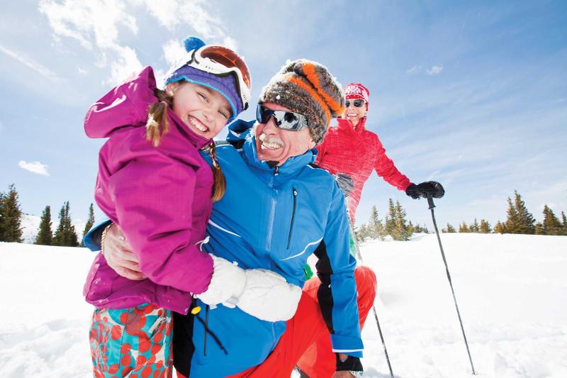 Ski trip multi generational
