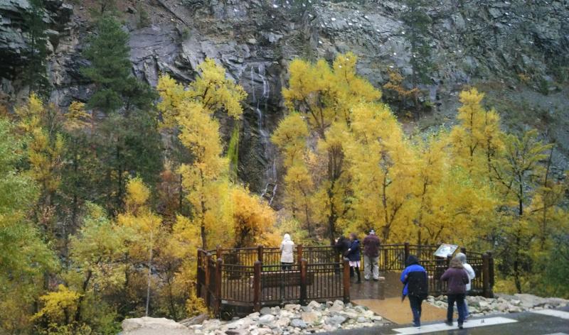 South Dakota fall foliage at Spearfish Canyon