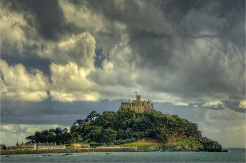 The breathtakingly beautiful island of St Michael's Mount in Cornwall