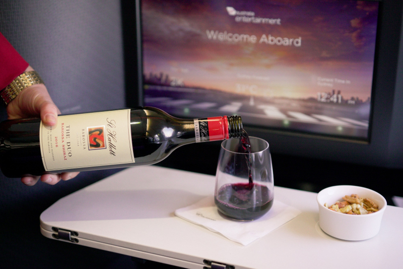 Virgin Australia The Duo wine