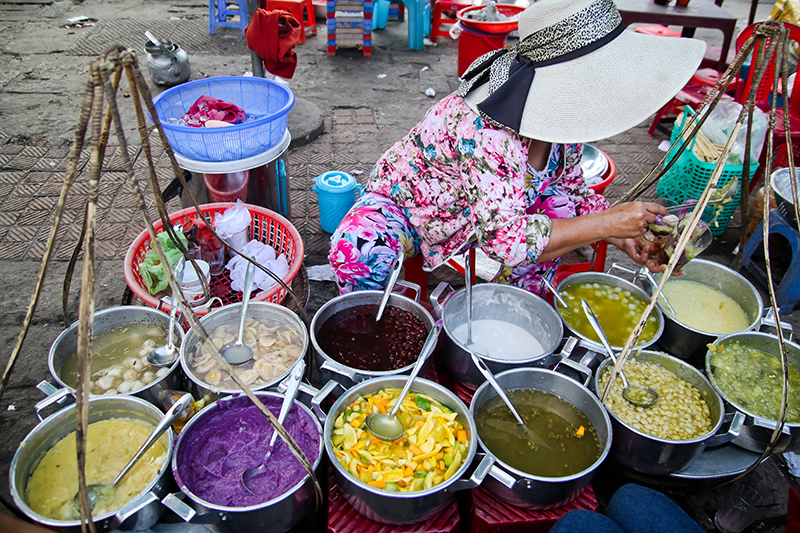 Sample the local flavours of Old Saigon.