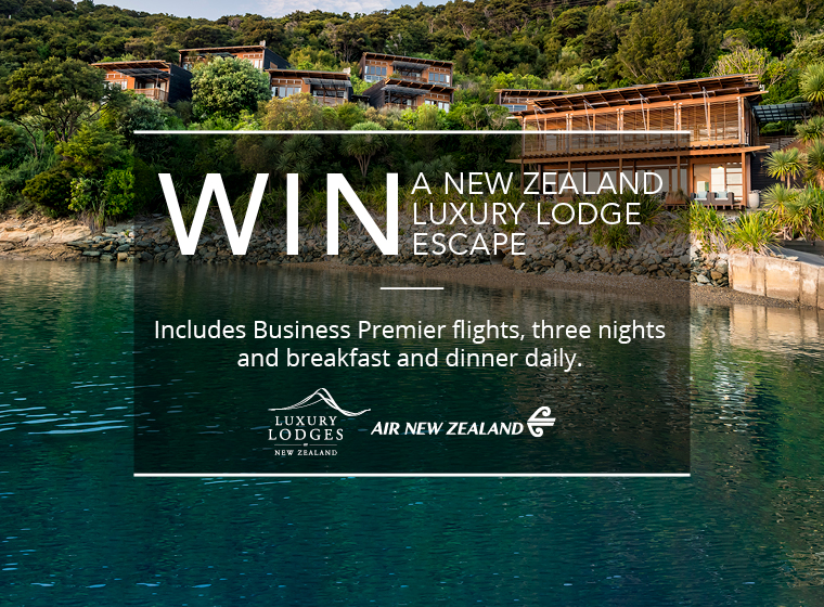 Win a New Zealand luxury lodge escape
