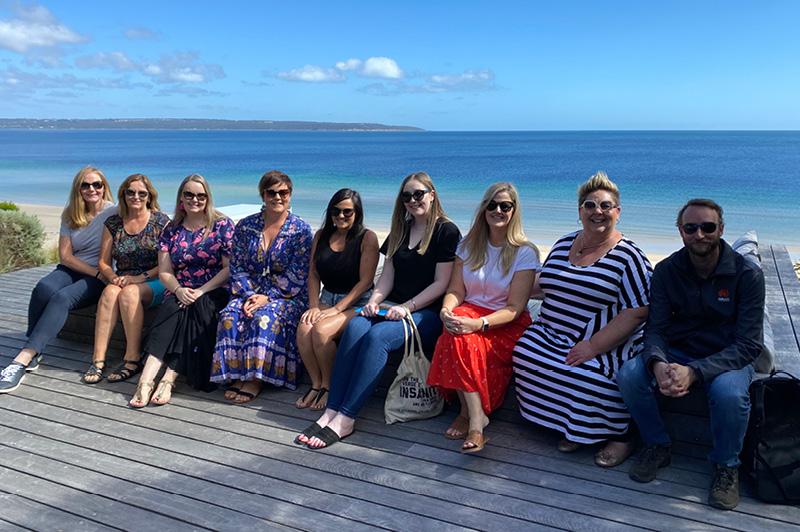 Travel Associates advisors from around Australia at One Kangaroo Island in February 2021.