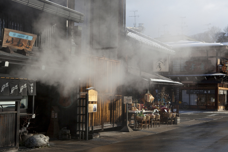 The traditional streets of Takayama