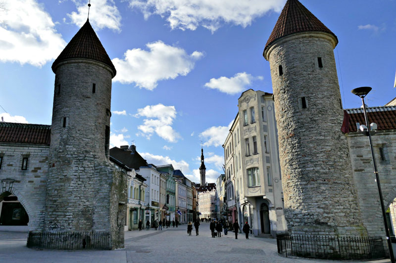 Front entrance gates to Tallinn Old Town