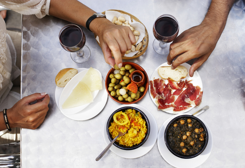 Tapas table Andalucia