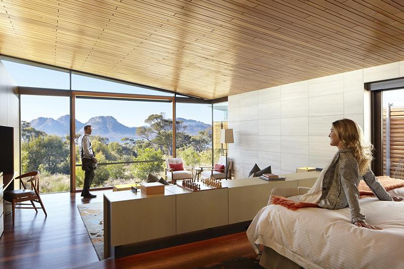 Luxury accommodation at Saffire Freycinet on Tasmania's east coast