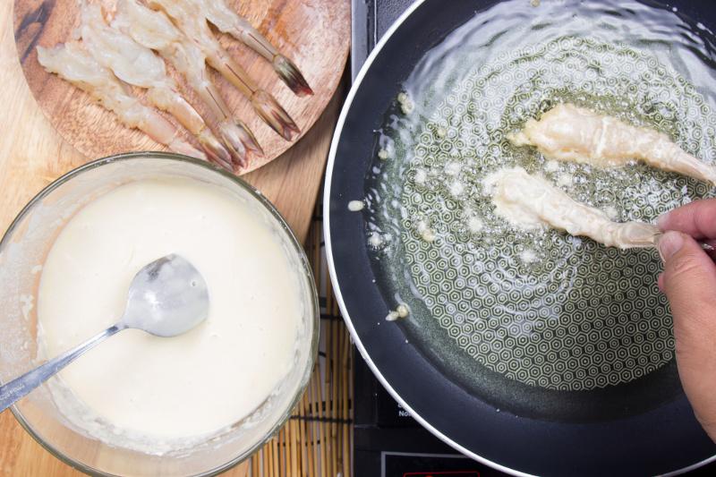 Tempura cooking