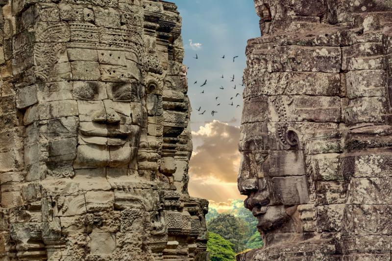 The Bayon Angkor Thom Angkor Wat