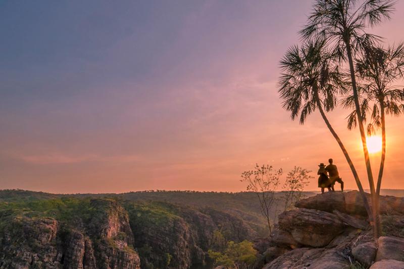 Sun rising over Nitmiluk, NT (Image Credit: Tourism NT/Mark Fitzpatrick)