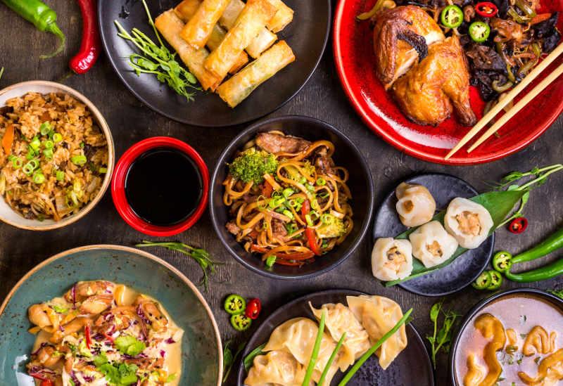 Top view Hong Kong food
