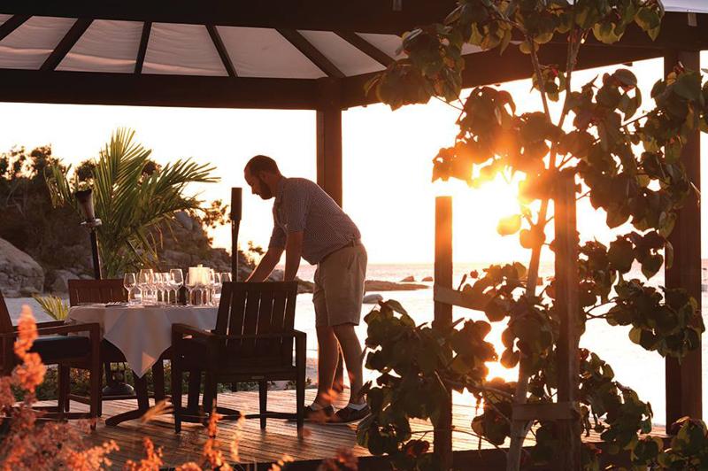 Lizard Island's Sunset Beachside Dining