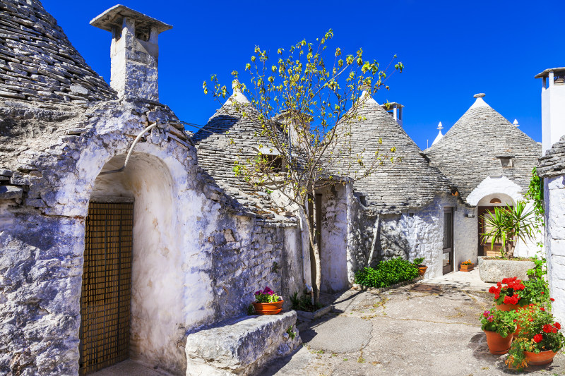 The beautiful clusters of the Trulli Buildings