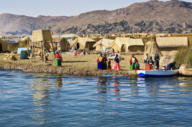 Titicaca floating islands, South America