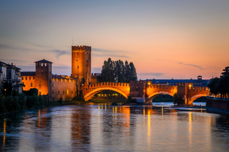 Ponte Scaligero Bridge Verona Italy