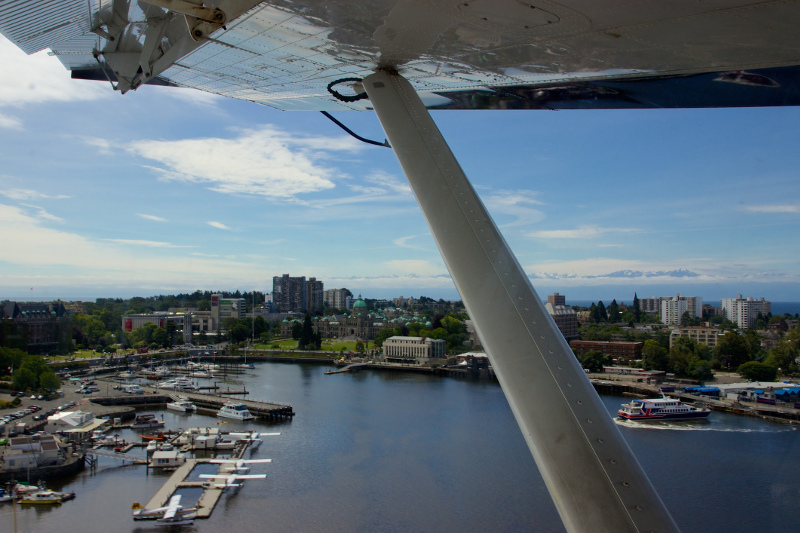 View of Victoria Harbour from aboard a sea plane