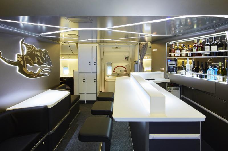 Virgin Business Class Inflight Bar