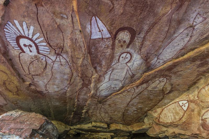 The ancient cave art of Wandjina, Kimberley