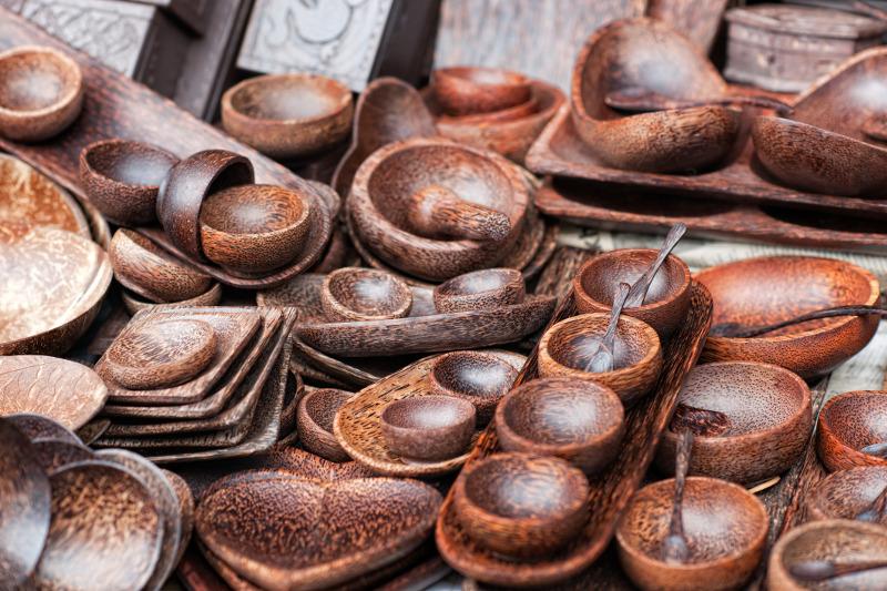 Wooden bowls Bali
