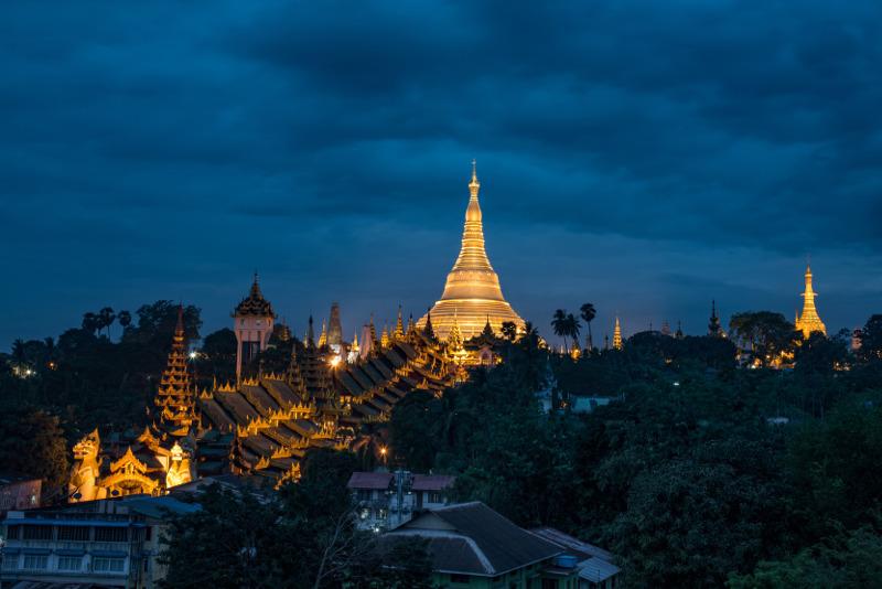 Yangon skyline Myanmar
