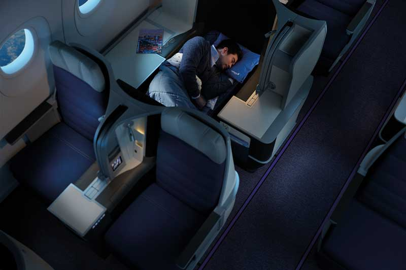 Malaysia Airlines Business Class Lie Flat Beds