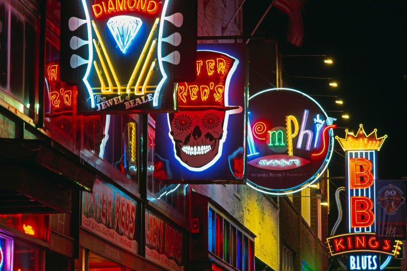 Beale Street neon signs