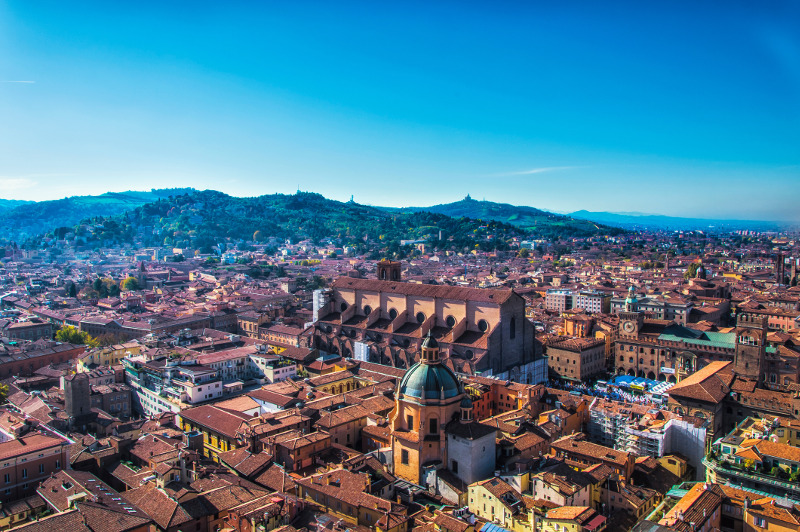 City view of Bologna