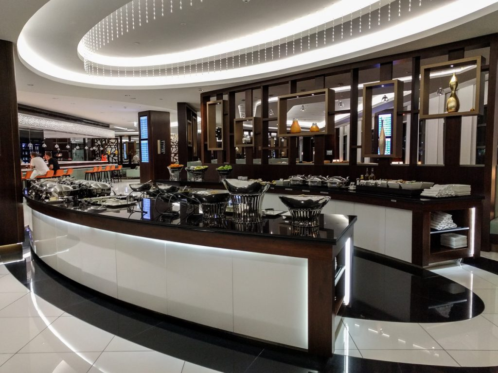 buffett abu dhabi airport business check in area buffet