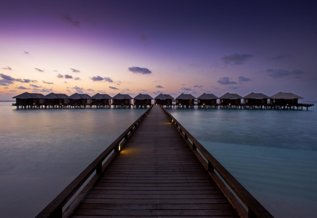 This image: Sheraton Maldives Full Moon Resort & Spa.