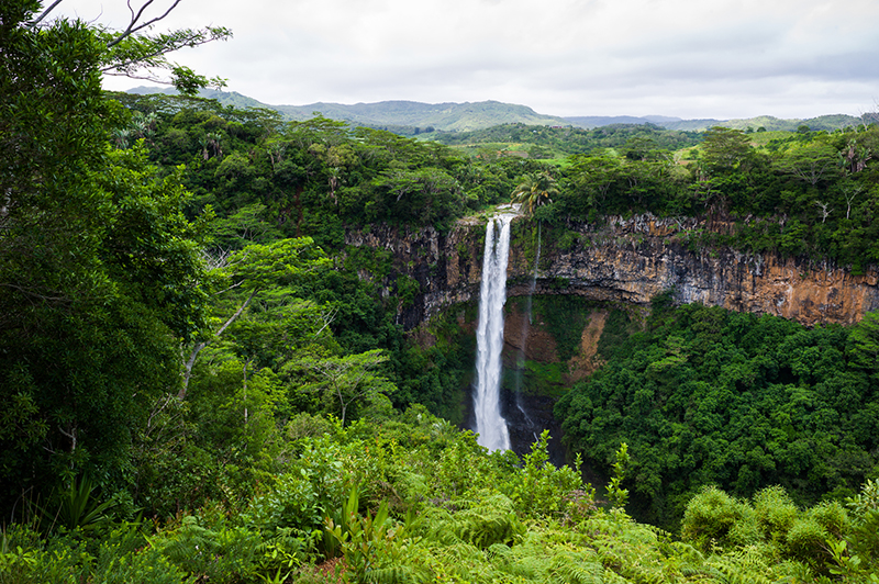 The waterfalls in Mauritius are sanctuaries of relaxation and a way to connect with nature.