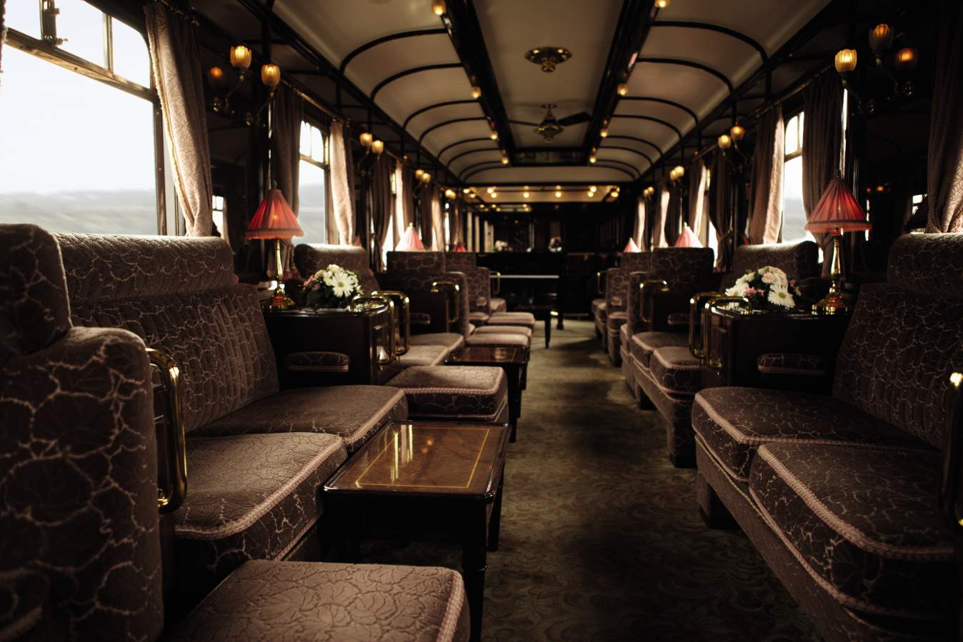 The Piano Bar on board the Venice Simplon-Orient-Express
