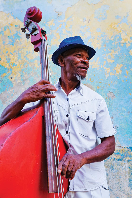 Street musician in Havana, Cuba.