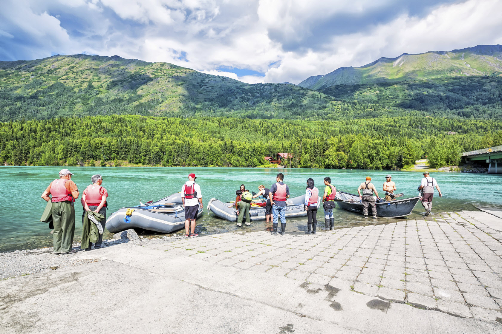 Alaska White Water Rafting Editorial Only