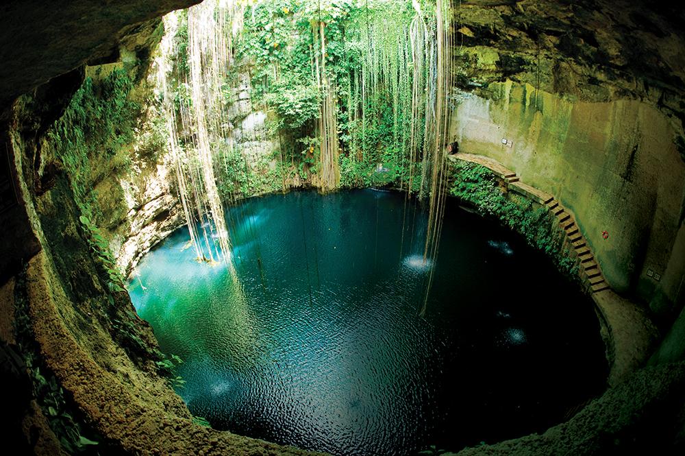 Sacred sinkhole: Ik-Kil, Chichen Itza, Mexico.