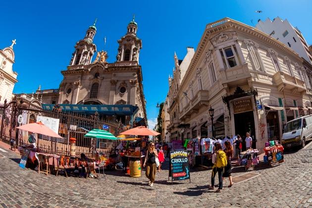 This image: San Telmo Sunday Market, Buenos Aires, Argentina. Source: Adventure World.