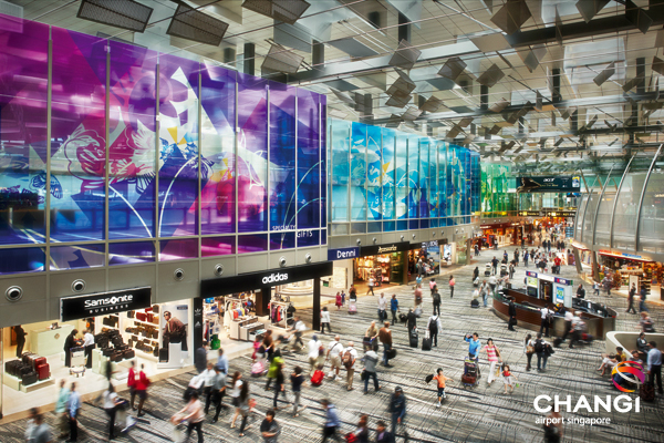 Changi delivers on the shopping front for transiting passengers, with 350 retail and services outlets. Source: Changi Airport Group