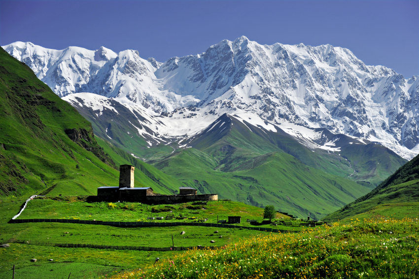 This image: UNESCO World Heritage site of Ushguli – the highest community of inhabited villages in Europe.