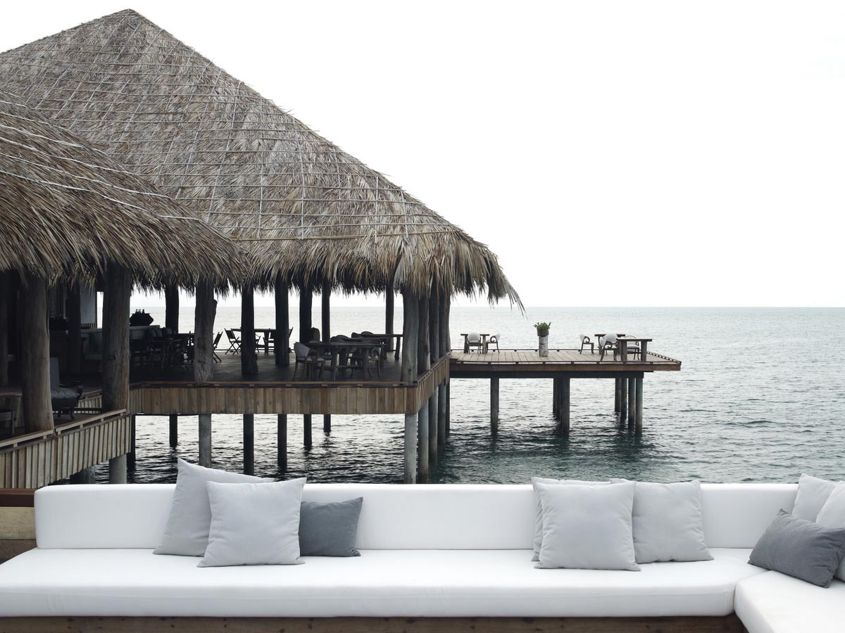 This image: Vista Bar & Restaurant taken in the early morning. Source: Song Saa Private Island