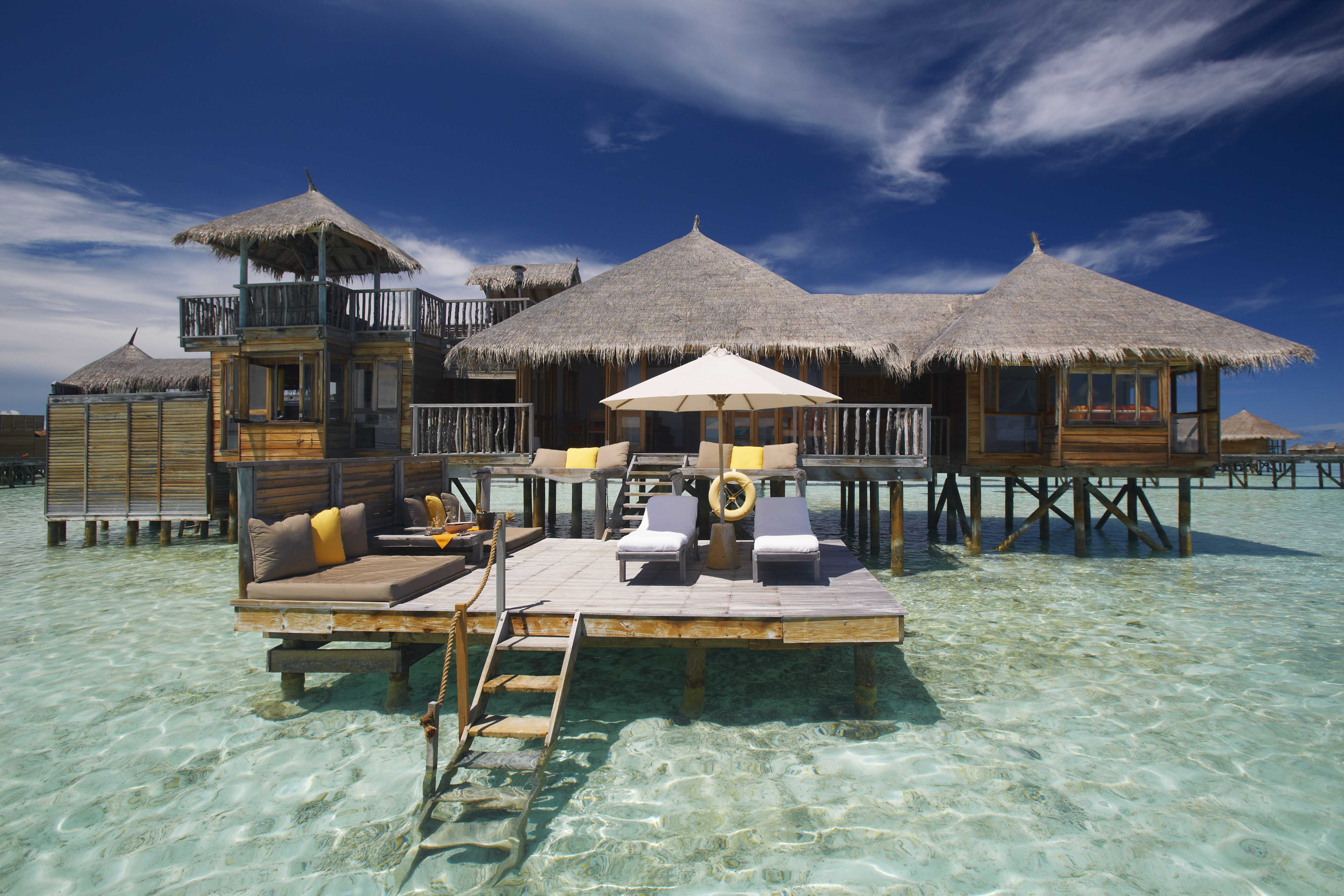This image: Crusoe Residence at Gili Lankanfushi.