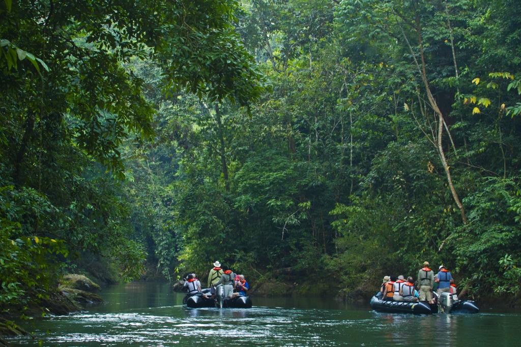 This image: Zodiac cruise down the Rio Esquinas, Corcovado National Park, Costa Rica. Source: Ralph Lee Hopkins